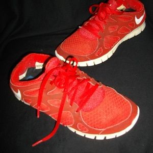 Nike Free Run Red Athletic Tennis Sport Shoes